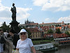 Statue on the Charles Bridge (No! Not the one in white)