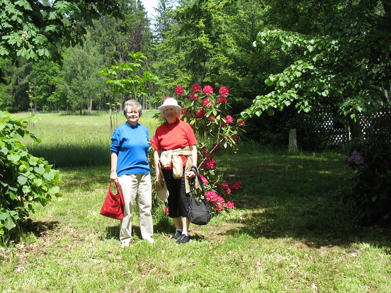 Jean and Natalie - Grounds, Antonin Dvorak Memorial Museum at Vysoka