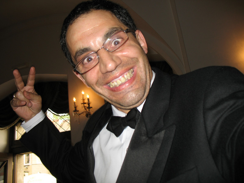 Crazy George, our Waiter - Stekl Restaurant<br /> (He took this picture himself)