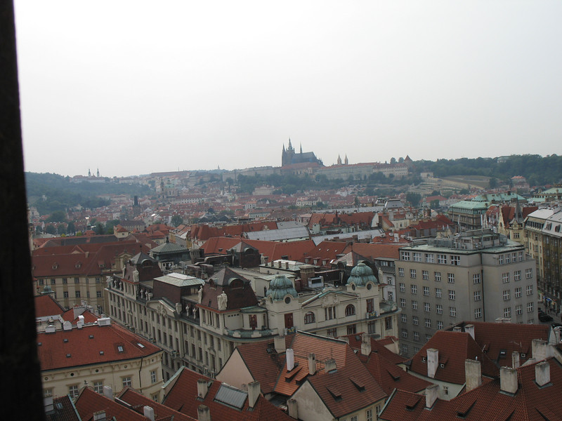 View of Prague Castle from Old Town Hall