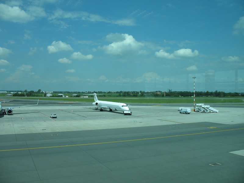 Prague Airport - Taken from the gate window<br /> (June 7, 2008)
