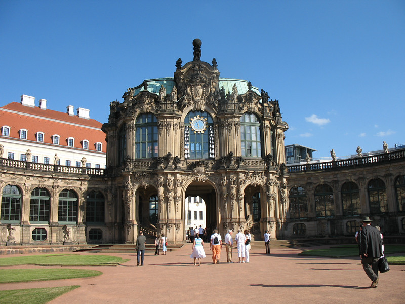 """The famous """"Zwinger"""" courtyard, Dresden - <br /> In the center is the Rampart & Glockenspiel Pavilion"""