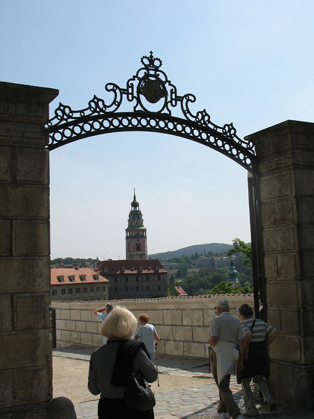 Upper gate to the Chateau