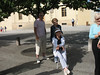 Getting briefed about Prague Castle by Jirina