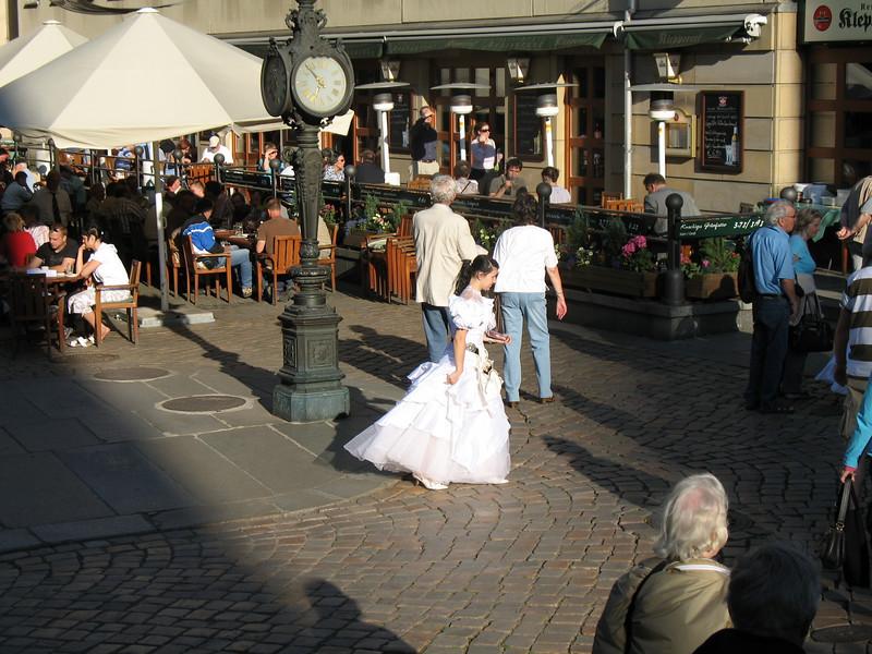 Hostess in outdoor restaurant - Dresden