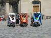 Tourists' tricycles