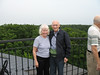 Natalie and Bill - Chateau Mcely tower