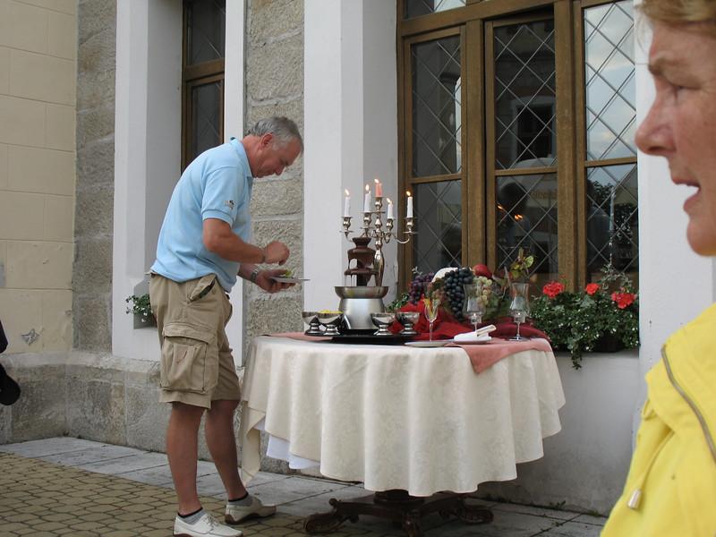 Emil sampling the fondu