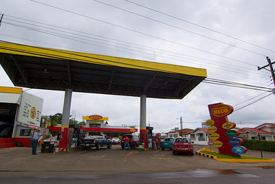 I simply liked the way this gas station looked.  It was just so colorful.