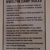 Kwolyin - Camping area Rules