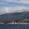 Hobart from near Bellarive Oval