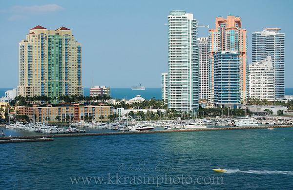 Coastal view with a bonus Carnival ship