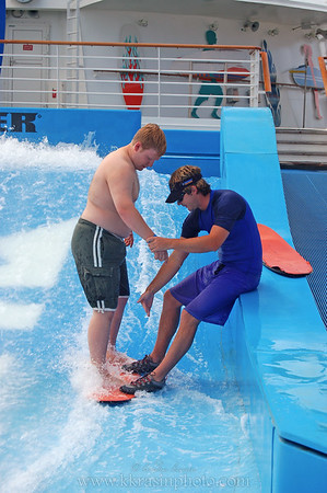 Paul went on the Flowrider