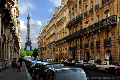 City Street, Paris France
