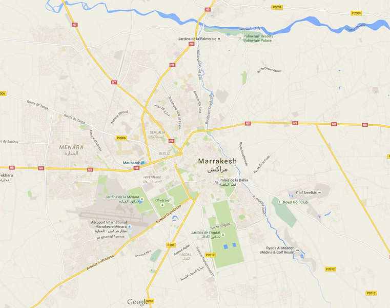 Marrakech overview map - 14/9/2015