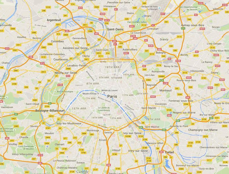 Paris overview map