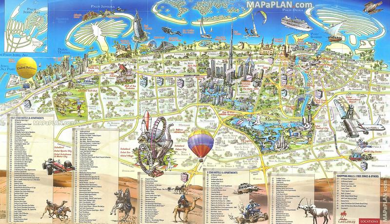Dubai top tourist attractions maps
