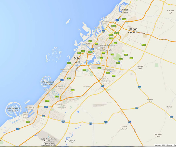 Dubai overview map
