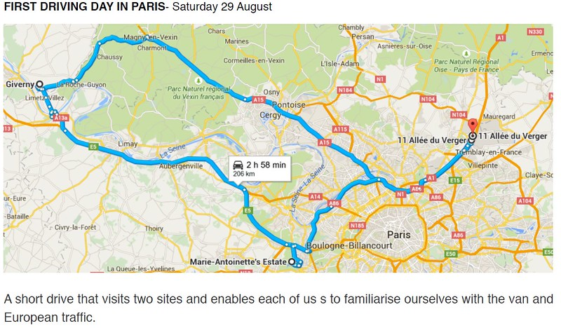 Paris-Giverny-Paris - 29/8/2015