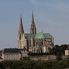 Chartres old town and cathedral