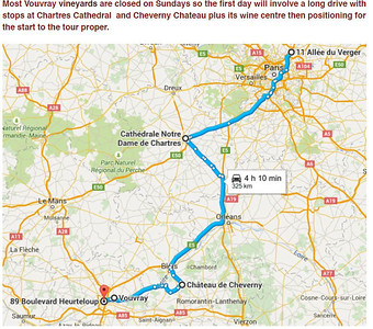 30 August 2015 Paris-Chartres-Cheverny-Tours