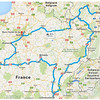 Wine tour map - France/Germany