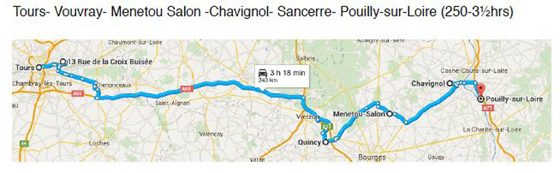 Wine DAy 2 Tours-Vouvray-Menetou Salon-Chavignol-Sancerre-Pouilly-sur-Loire