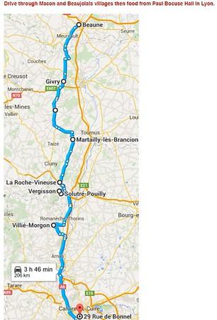 4 September 2015 Beaune- Givry- Cluny- Vergisson- Morgon-Moulin a Vent- Lyon