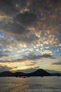 Sunset, Bartolome Island, Galapagos Islands