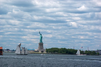 From the ferry we could see the Statue of Liberty.  There were also some sail boats that reminded me to increase my pursuit of monetary compensation.
