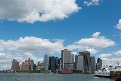 View of lower Manhattan.