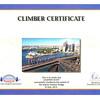 Sydney Harbour Bridge Climb - Geoff's Certificate