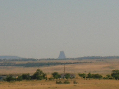 Distant view of the Devil's Tower