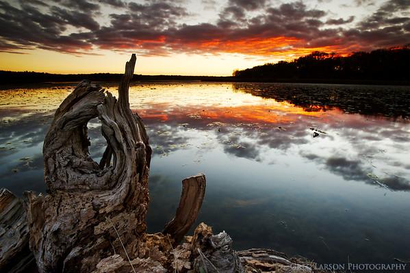 Sunset over Lake Wingra, Madison, WI.