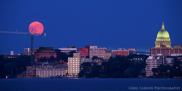 Supermoon rises over Madison