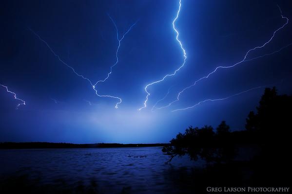 Lightning over Lake Wingra