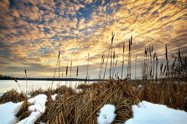 Frozen Lake Wingra, Madison, WI.