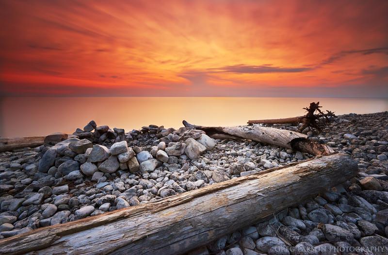 Sunset on Washington Island, Door County, Wisconsin.