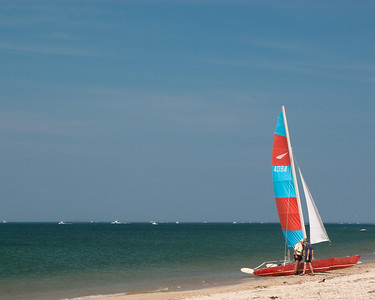 """Off of """"Outer beach"""" north of the Montauk area."""