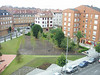 The small park of the north side of the flat at the corner of Pintor Manuel Midina and Avenida de Schultz..