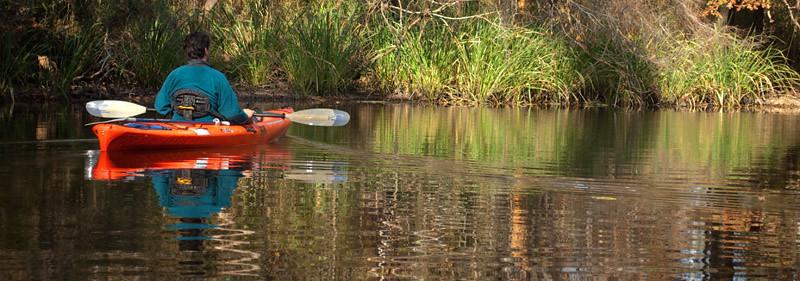 An autumn afternoon float on Cane Bayou. Mandeville, La.