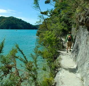 The 20 km walking track back to Kaiteriteri from Torrent Bay in Abel Tasman NP.