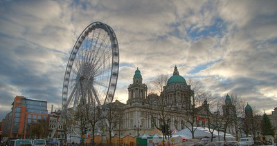 The Wheel of Belfast in partnership with Ulster Bank  World Tourist Attractions Ltd is proud to announce the arrival in October 2007 of a brand new 60m wheel, in partnership with Ulster Bank, Belfast City Council and the Department for Social Development. The wheel is located in the grounds of Belfast's historic City Hall, in the vibrant heart of town.