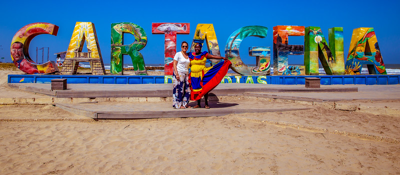 Cartagena Welcome Sign