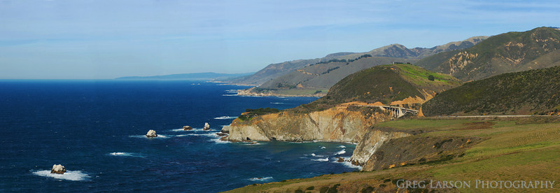 Big Sur, California.  8 image panoramic stitch.
