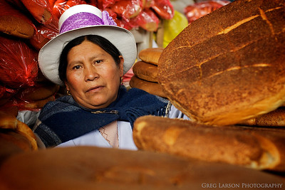 Bread Maker at a market in Cusco, Peru