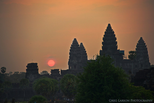 Sunrise over Angkor Wat, Cambodia.