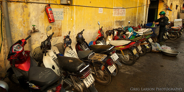 Market parking in Hanoi, Vietnam.