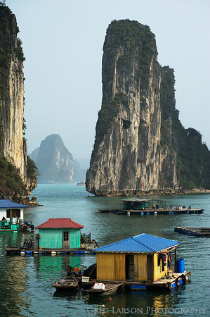 Floating Village, Ha Long Bay Vietnam.