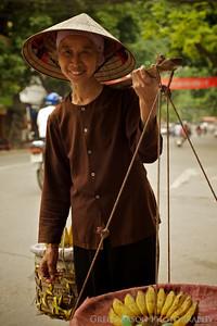 Banana Vendor, Hanoi, Vietnam.